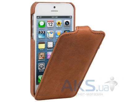Чехол Decoded Leather Flip Apple iPhone 5, iPhone 5S, iPhone SE Brown (D3IPO5FC1BNCV)
