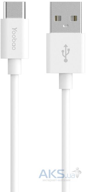 Кабель USB Yoobao Type-C Sync&Charge Cable White (YB-CA2)