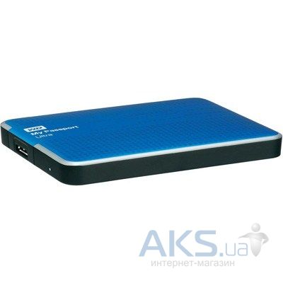 "Жесткий диск внешний Western Digital 2.5"" 1TB My Passport Ultra (WDBZFP0010BBL-EESN) Blue"