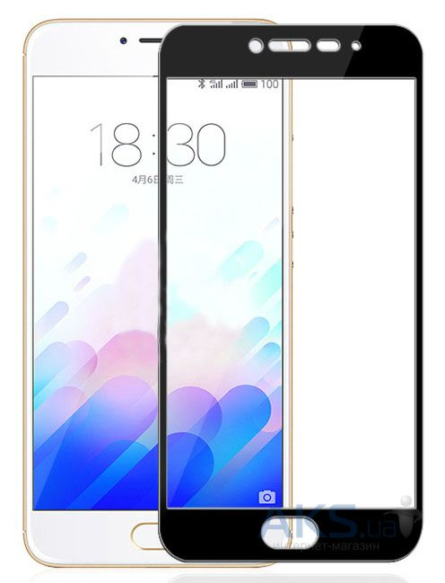 Защитное стекло Tempered Glass 3D Full Cover Meizu M3, M3 Mini, M3s Black