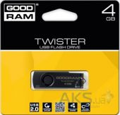 Вид 2 - Флешка GooDRam TWISTER 4 GB RETAIL 9 (PD4GH2GRTSKKR9) Black