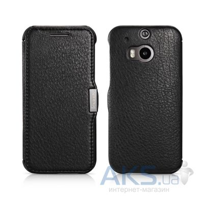 Чехол iCarer Litchi Pattern for HTC One (M8) Black