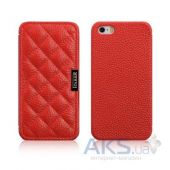 Чехол iCarer Classic Check Apple iPhone 5, iPhone 5S, iPhone SE Red