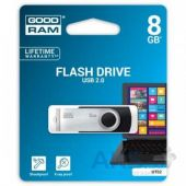 Вид 4 - Флешка GooDRam 8GB Twister USB 2.0 (UTS2-0080K0R11) Black