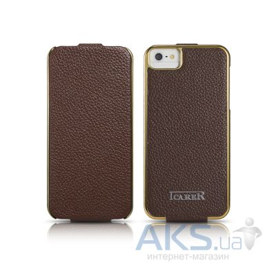 Чехол iCarer Electroplating Apple iPhone 5, iPhone 5S, iPhone 5SE Brown