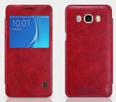 Вид 3 - Чехол Nillkin Qin Leather Series Samsung J710 Galaxy J7 2016 Red