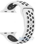 Ремешок Nike Sport Band для Apple Watch 38mm White/Black (M-L size)