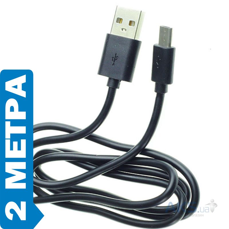 Кабель USB GOLF Lonsmax microUSB Cable 2 м. Black