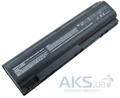 Батарея для ноутбука HP DV1000 (HSTNN-IB09, H DV1000 3S2P) 10,8V 5200mAh (NB00000022) PowerPlant Black