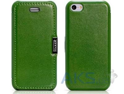 Чехол iCarer Luxury Series Flip Case for iPhone 5C Green (RIP521GR)