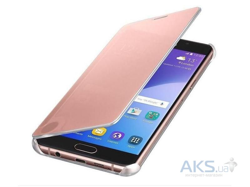 Чехол Samsung Clear View Cover Series A710 Galaxy A7 2016 Rose Gold (EF-ZA710CZEGRU)