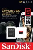 Карта памяти SanDisk 32GB microSDHC Class 10 Extreme Pro UHS-3 R95/W90MB/s (SDSDQXP-032G-G46A)
