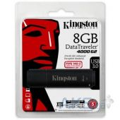 Вид 5 - Флешка Kingston 8GB DataTraveler 4000 G2 Metal Black USB 3.0 (DT4000G2/8GB)