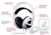 Вид 3 - Гарнитура для компьютера SteelSeries Siberia v2 USB White (51102)