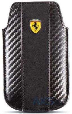 Чехол CG Mobile Ferrari Leather Sleeve Case Challenge Black for iPhone 4/4S (FECHIPBL)