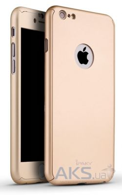 Чехол iPaky 360 PC Whole Round Apple iPhone 6, iPhone 6S Gold