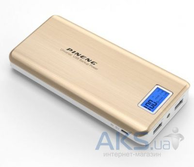 Внешний аккумулятор PINENG Power Bank[PN-999G], 20000 mAh with LCD Gold