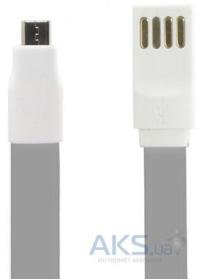 Кабель USB Gelius Gold Edition Flat MicroUSB Grey