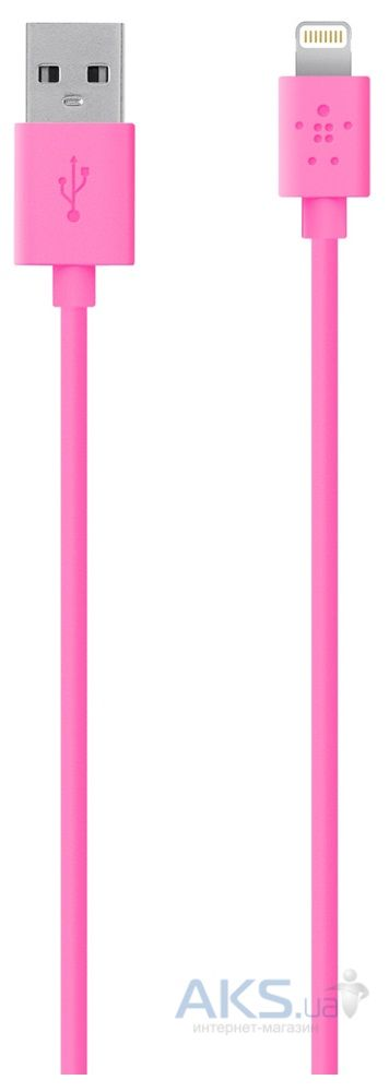 Кабель USB Belkin Lightning to USB ChargeSync Cable for iPhone 1.2m Pink (F8J023bt04-PNK)