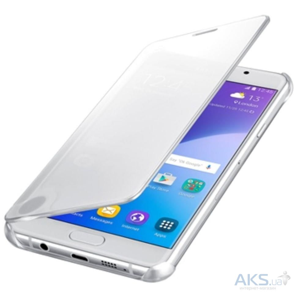 Чехол Samsung Clear View Cover Series A710 Galaxy A7 2016 Silver (EF-ZA710CSEGRU)