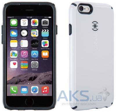 Чехол Speck CandyShell for iPhone 6/6S White/Charcoal Grey (SP-73424-B860)