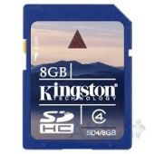 Карта памяти Kingston 8GB SDHC Class 4 (SDC4/8GB)
