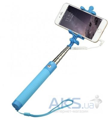 Монопод Baseus Monopod with AUX-cable Blue