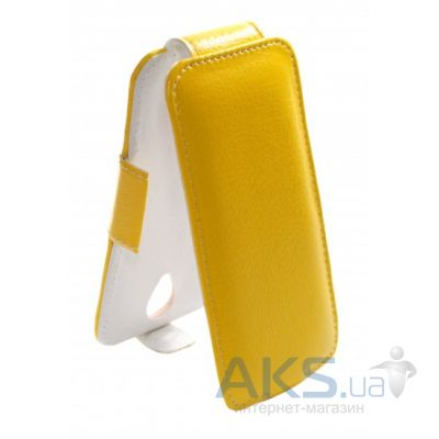 Чехол Sirius flip case for Lenovo A328 Yellow