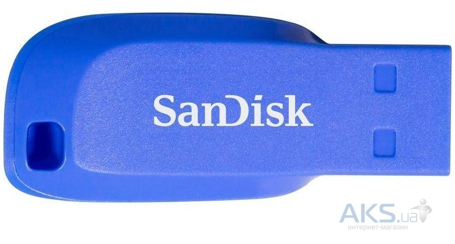 Флешка SanDisk 16GB USB Cruzer Blade Blue Electric (SDCZ50C-016G-B35BE)
