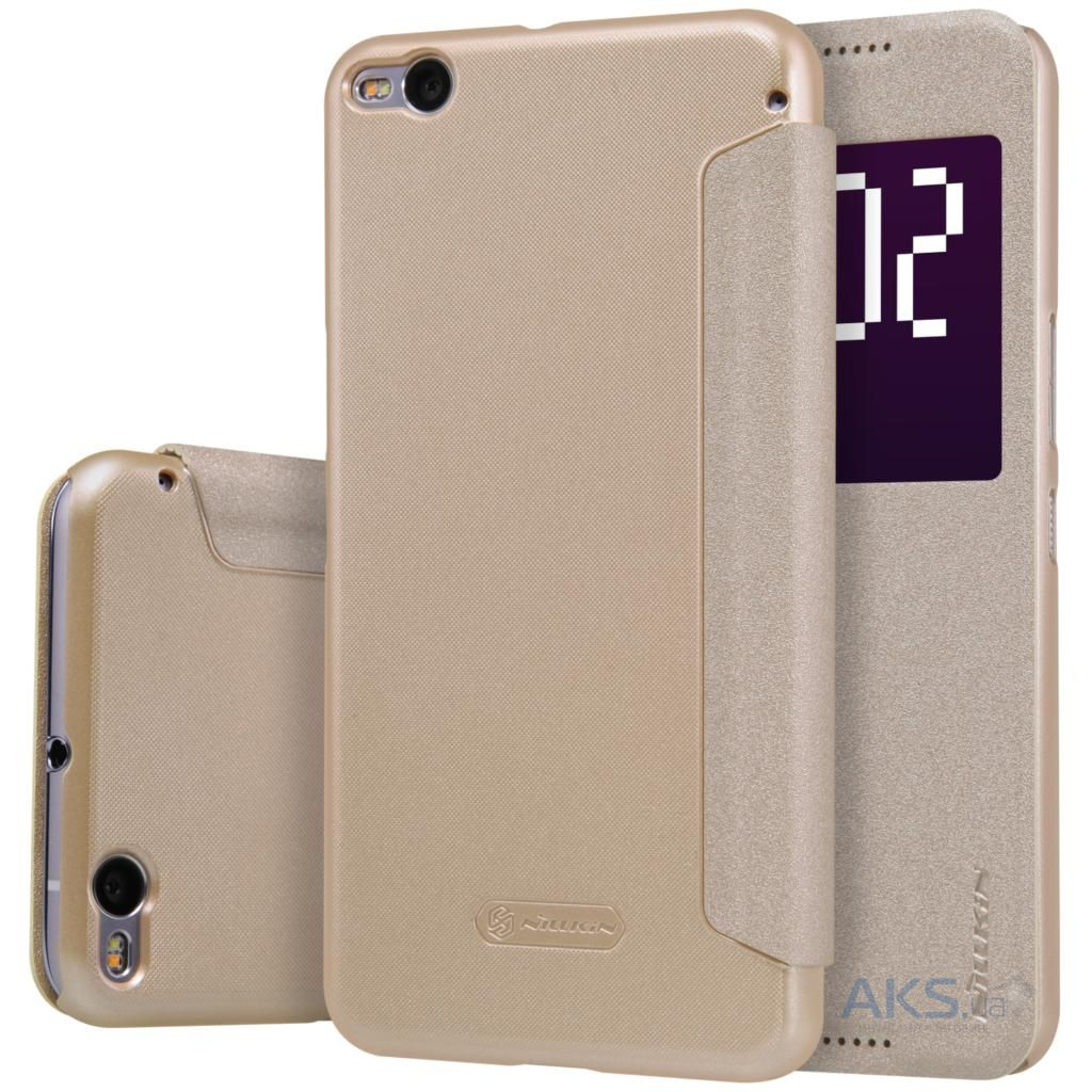 Чехол Nillkin Sparkle Leather Series HTC One X9 Gold