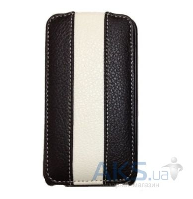 Чехол Rada leather case for HTC G13 Wildfire S A510e black/white (A22)