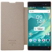 Вид 3 - Чехол Nillkin Sparkle Leather Series Sony Xperia XA Ultra Gold