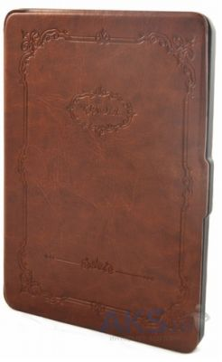 Обложка (чехол) Crown Retro Pattern Leather Case for Kindle 6 Brown