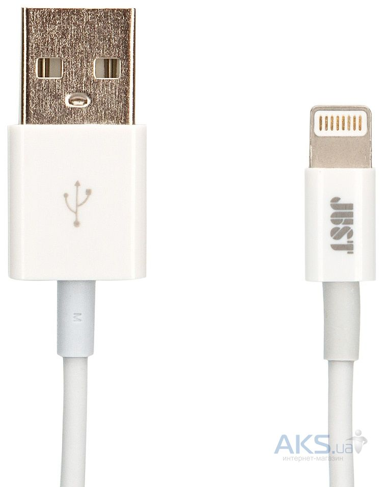 Кабель USB JUST Simple Lightning USB Cable White (LGTNG-SMP10-WHT)