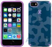 Вид 2 - Чехол Speck CandyShell Apple iPhone 5, iPhone 5S, iPhone 5SE Inked Camo Tone Blue/Revolution Purple (SPK-A2750)