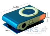 Вид 3 - Mp3-плеер Slim Flash Drive Blue