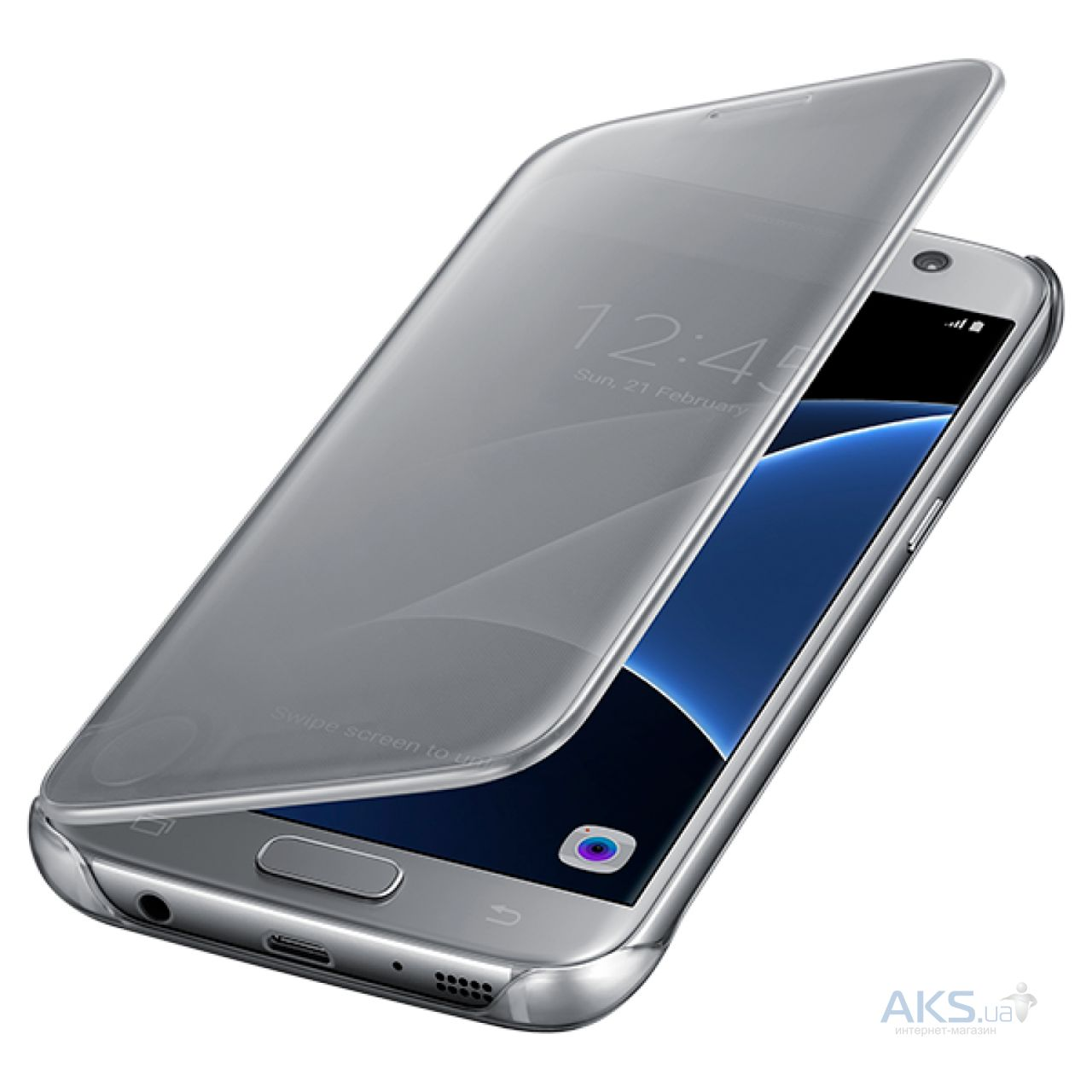 Чехол Samsung Clear View Cover Series G930 Galaxy S7 Silver (EF-ZG930CSEGRU)