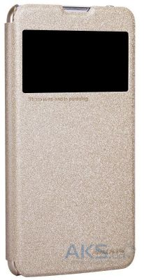 Чехол Nillkin Sparkle Leather Series LG Optimus G Pro Lite D686 Gold