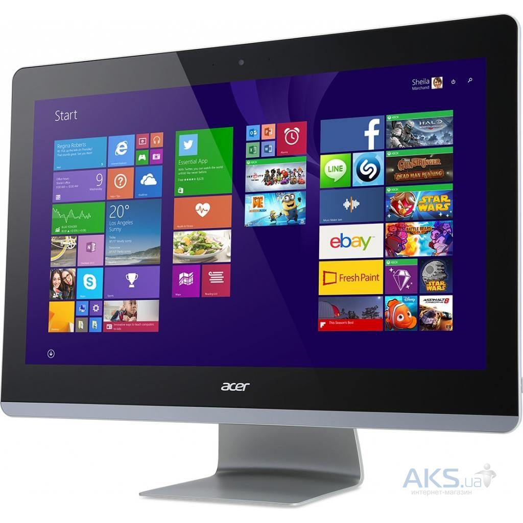 Моноблок Acer Aspire Z24-880 (DQ.B8TER.011) i5-7400T (2.4)/8GB/1TB/23.8