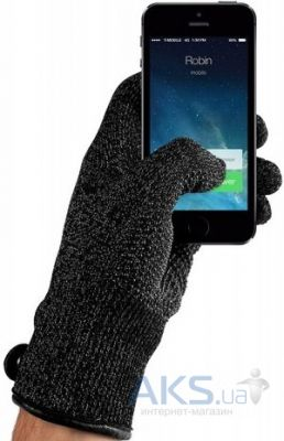 Гаджет Mujjo Double-Layered Touchscreen Gloves M/L Black