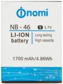 Аккумулятор Nomi i451 Twist / NB-46 (1700 mAh) Original