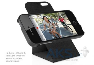 Чехол Macally Flip Case W. Rotatable Stand For iPhone 5 Black (SSTANDB-P5)