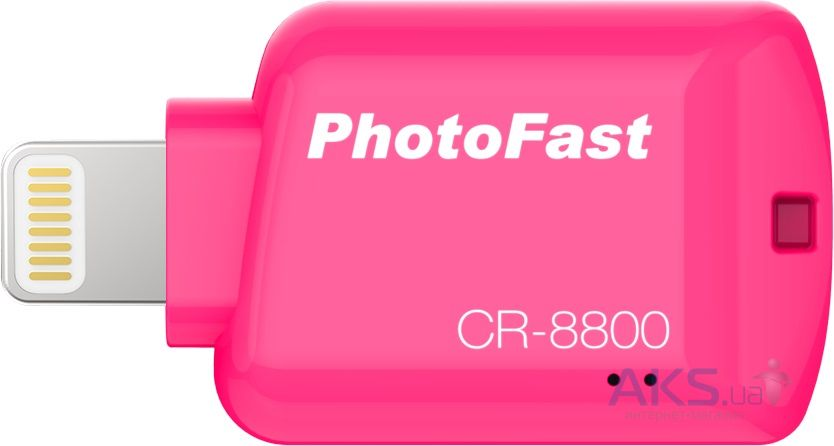 Гаджет PHOTOFAST iOS Card Reader CR8800 Red (CR8800R)