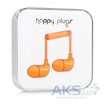 Наушники (гарнитура) Happy Plugs Headphones In-Ear Orange