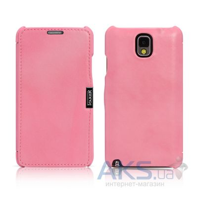 Чехол iCarer Side Open Luxury for Samsung N9000 Galaxy Note 3 Pink