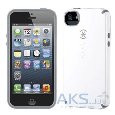 Чехол Speck CandyShell Apple iPhone 5, iPhone 5S, iPhone 5SE White/Charcoal Mini (SPK-A1560)