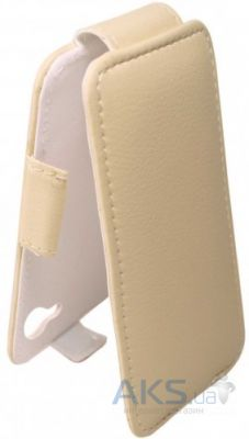 Чехол Sirius flip case Alcatel One Touch 5025d Pop 3 Beige