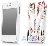 Чехол Capdase Karapace Jacket Case Xtreme Thunder White/Red for iPhone 4/4S