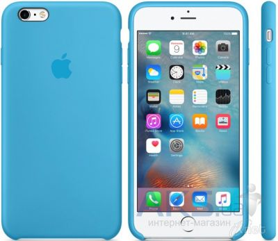 Чехол Apple Silicone Case for iPhone 6S Plus Blue (MKXP2)