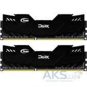 Оперативная память Team DDR4 16GB (2x8GB) 2666 MHz Dark Black (TDKED416G2666HC15ADC01)